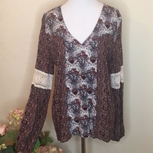 Charlotte Russe Long Sleeve Blouse Size Medium
